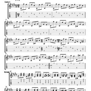 arrangement pour guitare partition tablature