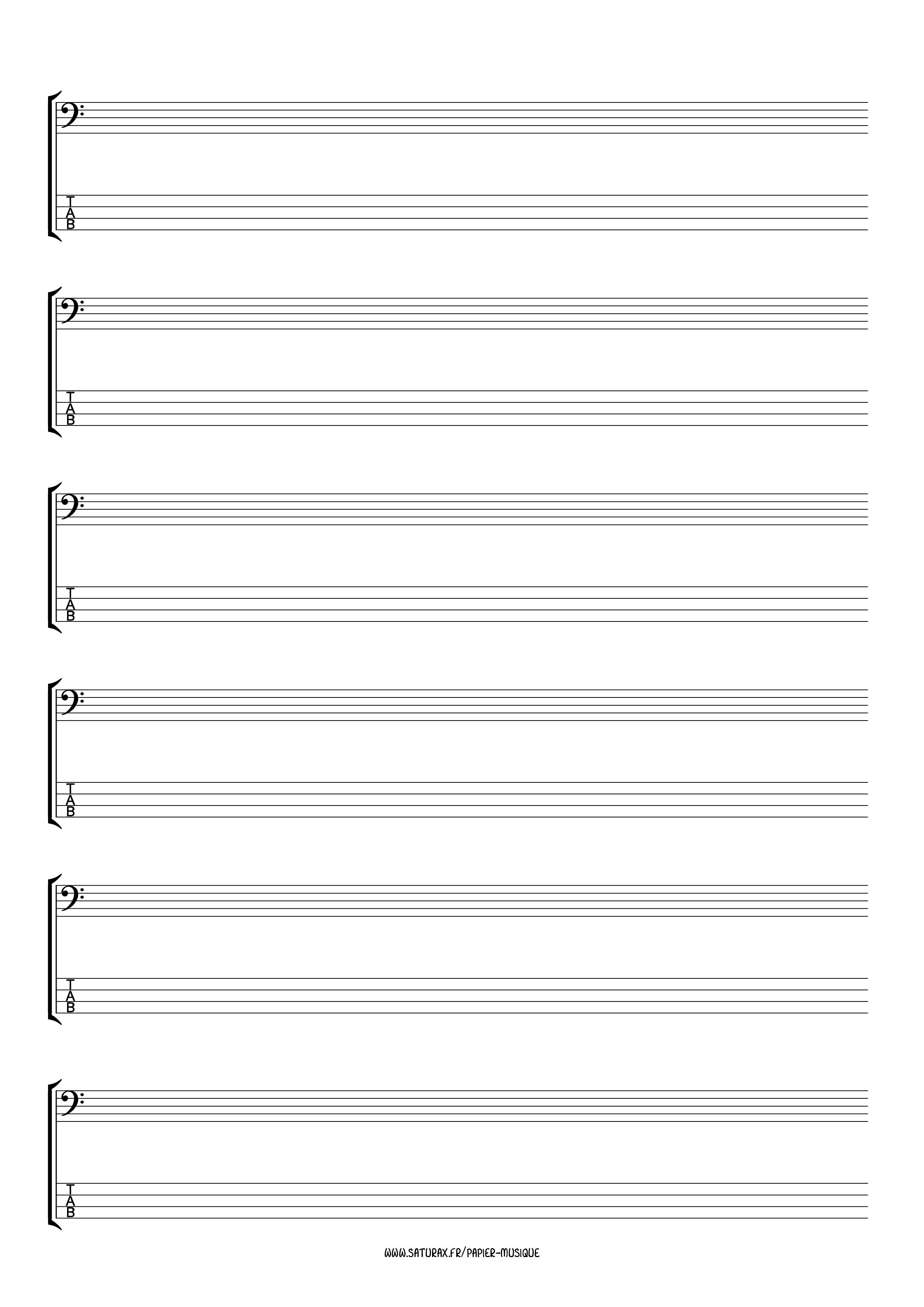 papier musique gratuit download pdf tablature basse 4 cordes portée