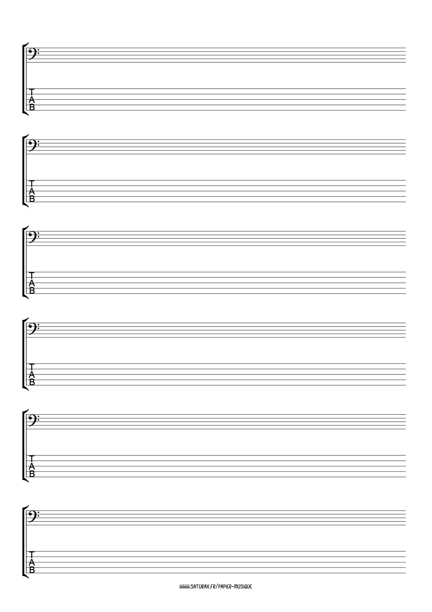 papier musique gratuit download pdf tablature basse 5 cordes portée