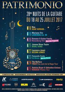 programmation festival patrimonio corse nuits de la guitare 2017 saturax